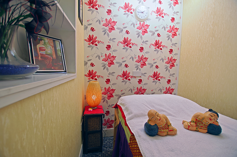 Massage room at Hua Hin Thai Spa on King Cross Road, Halifax